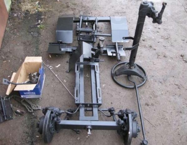 Детали и инструменты для изготовления мини-траткора из мотоблока нева своими руками