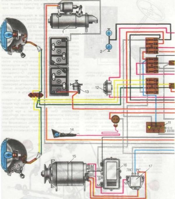 схема электро проводки на беларус 1221