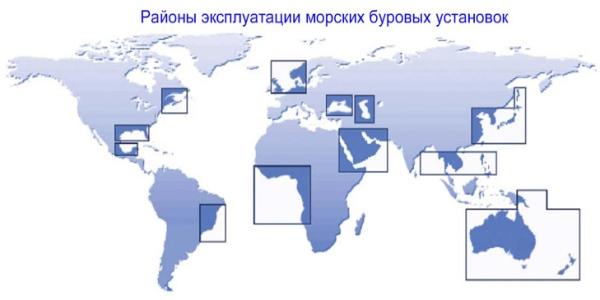 Область использования нефтяных буровых установок
