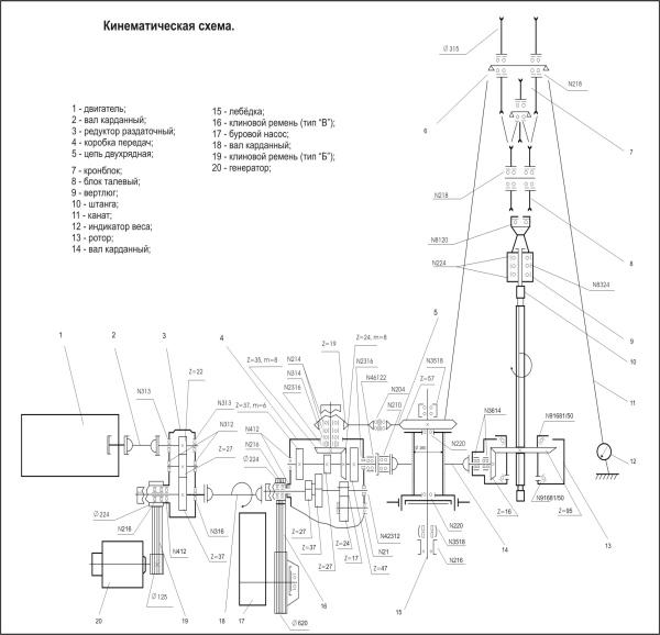 2а2 - кинематическая схема