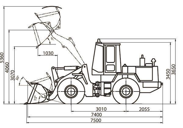 Технические характеристики погрузчика амкадор 342в-01