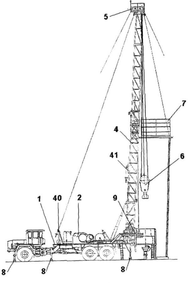 Конструктивные особенности буровой установки УПА-80