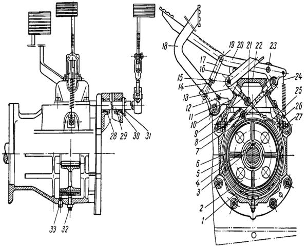 Двигатель, трансмиссия, ходовая система и оборудование трактора ДТ-20
