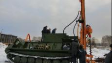 Новая машина УРБ-51 на базе МТЛБу с широким комплексом технологий бурения