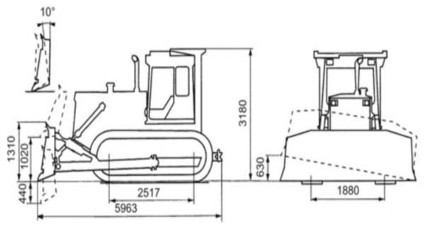 Основные узлы тарактора Т-130