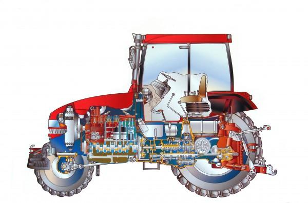 Двигатель, трансмиссия, электрооборудование трактора мтз 1523