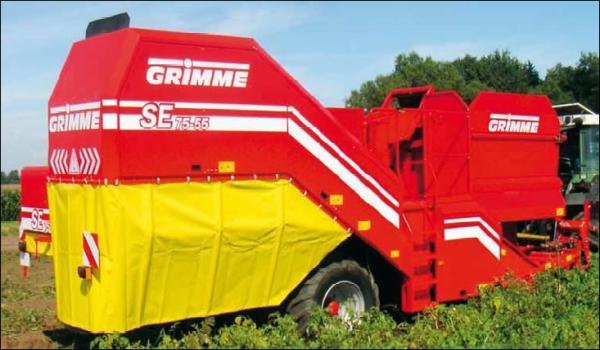 Конструктивные особенности и технические характеристики однорядных комбайнов для уборки картофеля grimme