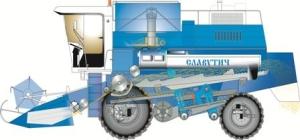 Системы обмолота, сепарации и очистки зерна комбайна славутич