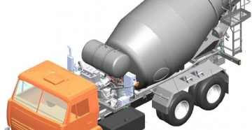 Технические характеристики, устройство и принцип работы автобетоносмесителя СБ-92-1А