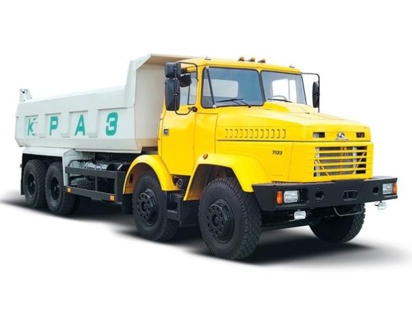 Технические характеристики модификаций самосвала КрАЗ 7133 с колесной формулой 8х4
