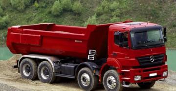 Серии, характеристики, особенности и устройство грузовиков самосвалов Мерседес Бенц