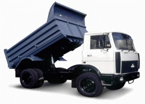 Двигатель, трансмиссия и тормозная система самосвала МАЗ-5551