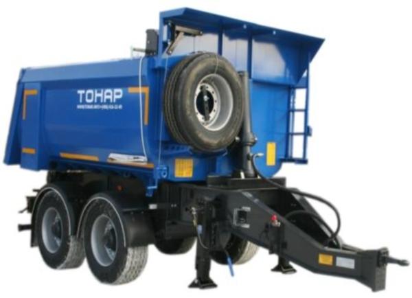 Технические характеристики и особенности прицепных самосвалов тонар
