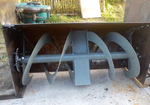 Процесс изготовления шнека для снегоуборщика из бензопилы Урал
