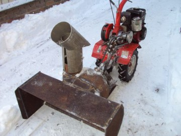 Как сделать из триммера снегоуборщик 861