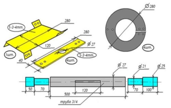 Изготовление самодельного шнека для снегоуборочной машины