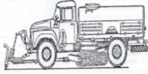 Принцип работы поливомоечной машины ЗИЛ-130