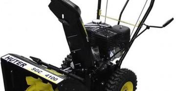 Характеристики, устройство и особенности снегоуборщика Huter SGC 4100