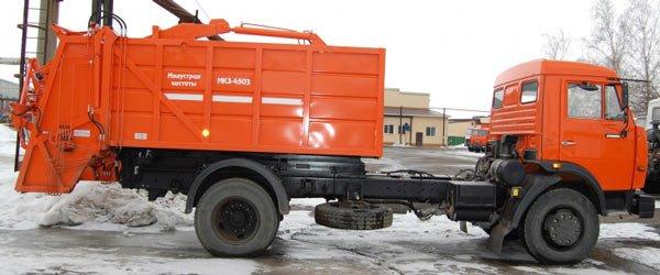 Особенности устройства и эксплуатации, характеристики мусоровозов на базе Камаз с задней загрузкой